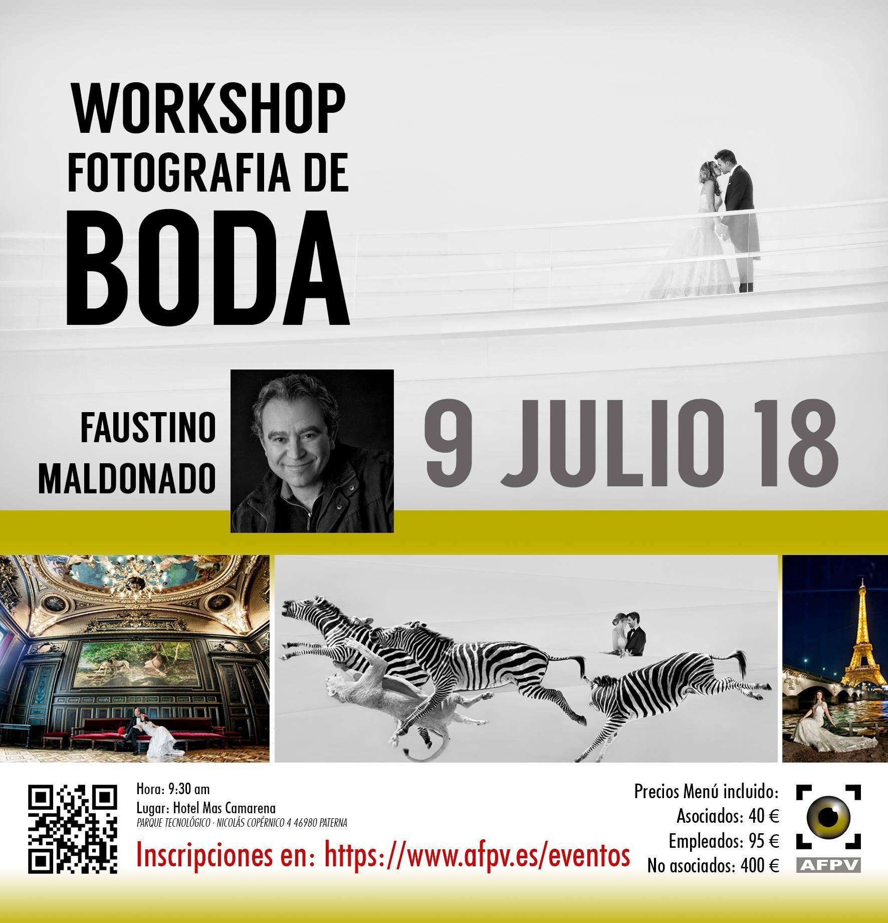 Cartel presentación Taller fotografía de boda Faustino Maldonado-afpv