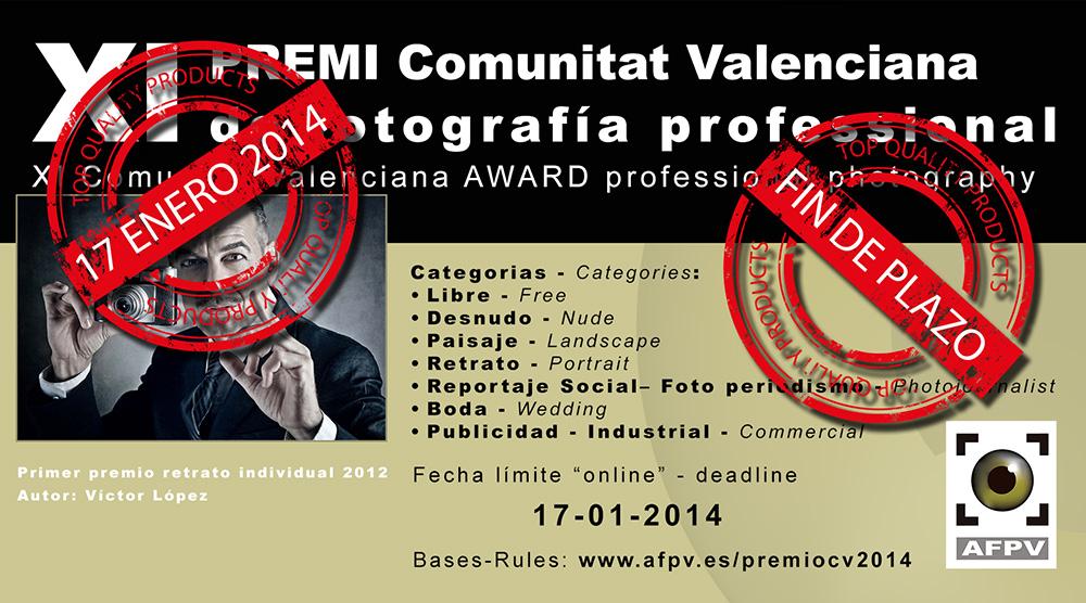 Fin de plazo Premi Comunitat Valenciana de Fotografia Professional 2014