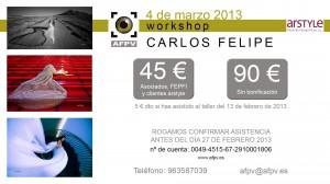 Taller Foto Arte Carlos Felipe para AFPV en Valencia 04-03-2013