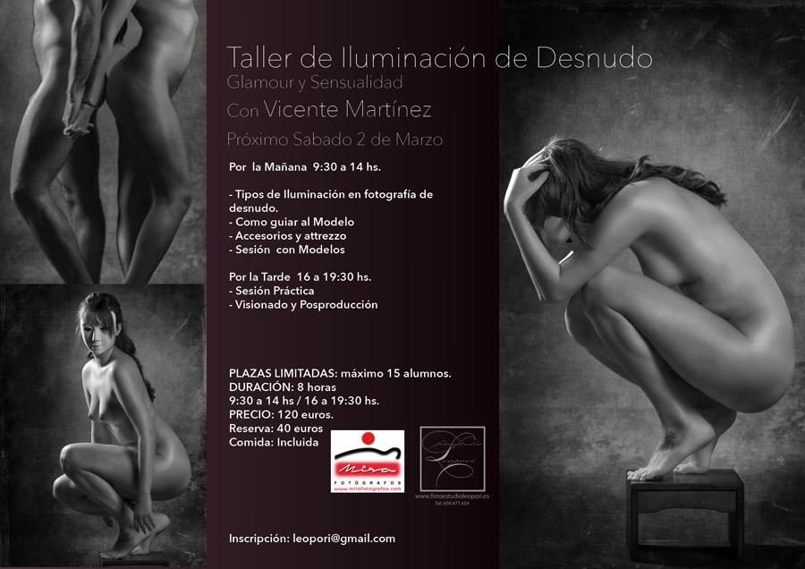 Taller de iluminación en desnudo de Vicente Martinez en fotoestudio Leopori