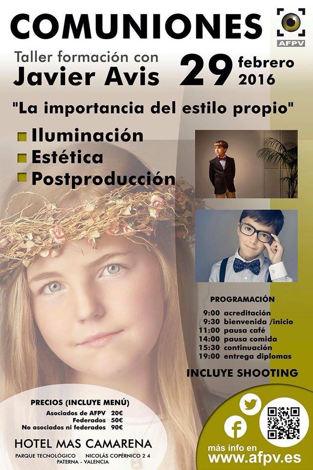 taller fotografía de comunión javier avis en valencia afpv