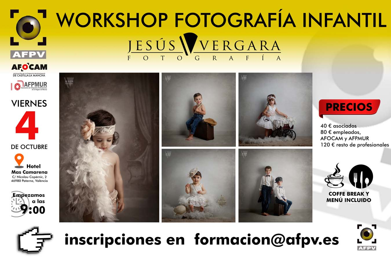 Taller fotografía infantil Jesús Vergara para AFPV